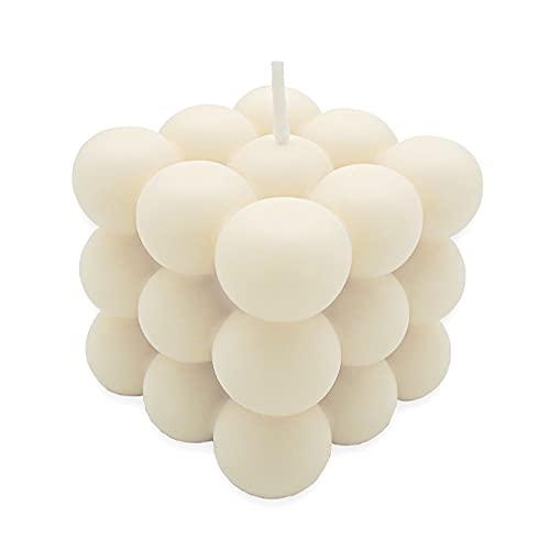 Bubble Candle   nachhaltige Kerze aus Rapswachs   Handmade in Germany   100% vegan   candlery. - die Kerzenmanufaktur aus Münster (Creme)