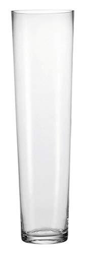 Leonardo Konisch Boden-Vase, handgefertigte Glas-Vase, konisch geformte Blumen-Vase, Deko-Vase aus Glas, mit massivem Eisboden, Höhe: 70 cm, 029557