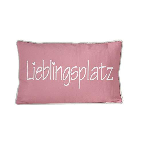 B.o.l.t.z.e 1 x Kissen Lieblingsplatz 50 x 30 cm, Farben:rosa