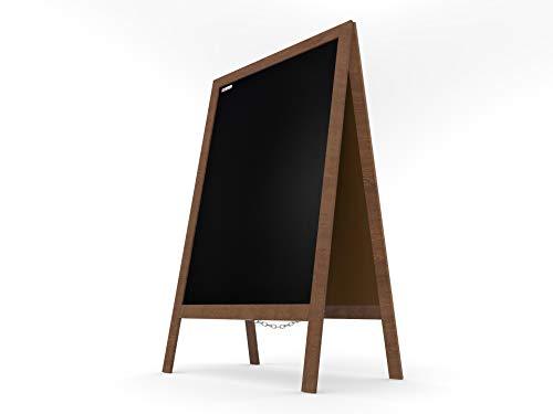 ALLboards Kundenstopper mit lackiertem Holzrahmen 118x61cm, Werbetafel, Gehwegaufsteller, Aufsteller, Straßenreiter, Kreide