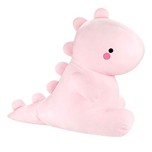 Dinosaurier Kuscheltier groß XXL rosa Plüschtier, Dino Plüschtier Plüschsaurier, Kissen Puppe für Erwachsene und Kinder Geschenke (Pink, 50cm)