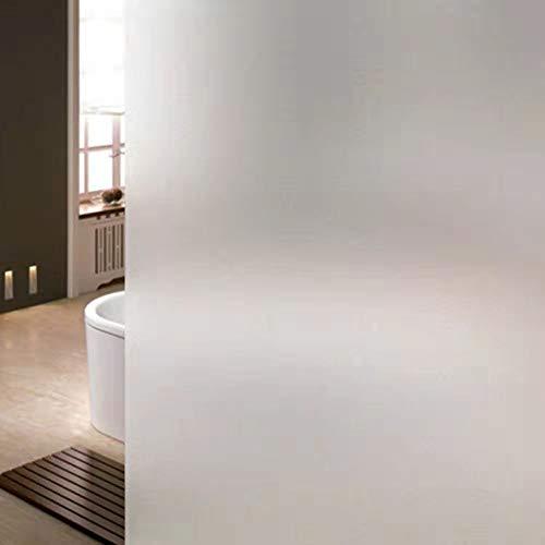 Fensterfolie selbsthaftend Blickdicht Sichtschutzfolie Fenster Scheibenfolie Anti-UV Milchglasfolie Für Zuhause Badzimmer oder Büro (Weiß, 45*200CM)