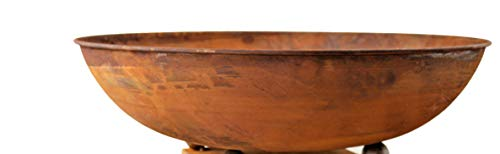 Rostikal Gartendeko Vintage Schale Ø 53 cm Garten Deko Rost Blumenschale Shabby Chic Deko Schale