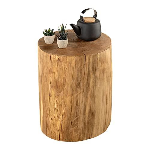 GREENHAUS Baumstamm Buche massiv 20-25 cm Handarbeit aus Deutschland Holzstamm Hocker Beistelltisch Holz