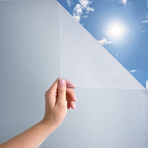 MARAPON ® Statische Fensterfolie selbsthaftend Blickdicht [30x200 cm] inkl. eBook mit Profitipps - Sichtschutzfolie Fenster mit Anti-UV - Milchglasfolie - Milchfolie