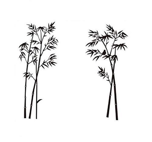 HALLOBO® Wandtattoo Bambus XXL Wandaufkleber Wandsticker Wall Sticker Wohnzimmer Schlafzimmer Deko Korridor Esszimmer Büro Dekro