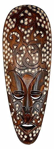 Woru Maske ARIS 50 cm, Holz-Maske aus Bali, Wandmaske
