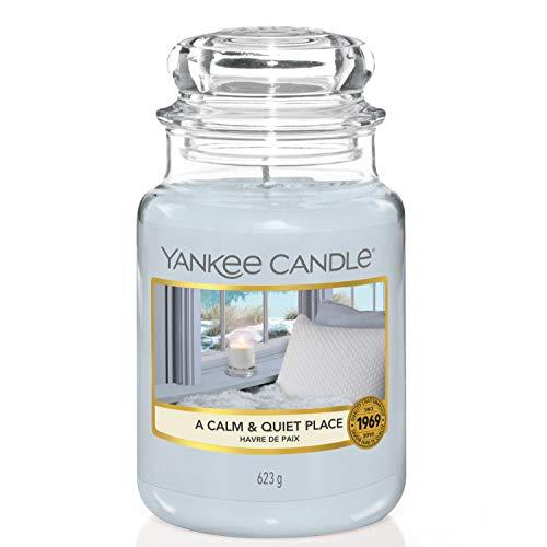 Yankee Candle Duftkerze im Glas (groß)   A Calm & Quiet Place   Brenndauer bis zu 150 Stunden
