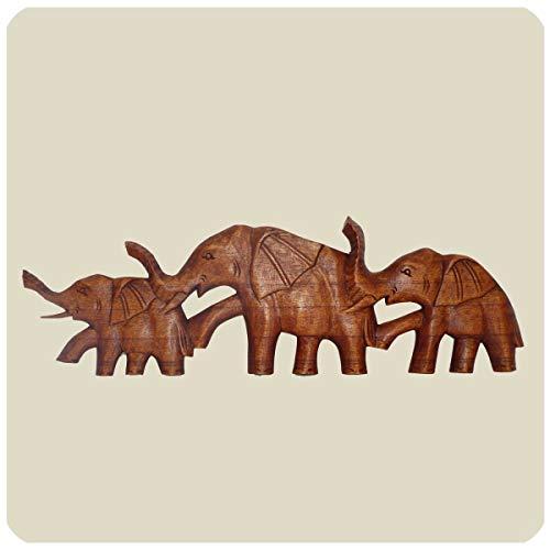 Simandra Wandmaske Elefant I Holzmaske aus Suar-Holz I afrikanische Schnitzerei I Handarbeit I Wanddekoration