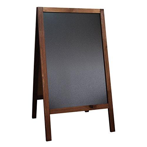 Druckspezialist Aufsteller Kreidetafel Kundenstopper beidseitig aus Holz 90 x 51 cm