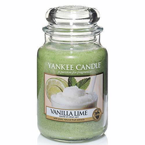 Yankee Candle Duftkerze im Glas (groß)   Vanilla Lime   Brenndauer bis zu 150 Stunden