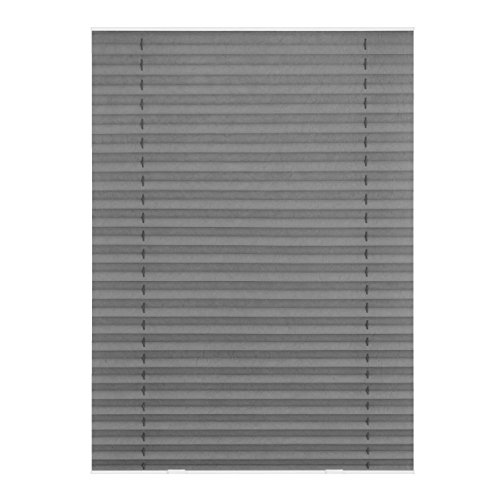 Lichtblick DPS.M06.02 Dachfenster Plissee Haftfix, ohne Bohren Grau, 59,3 cm x 100 cm (B x L) M06/MK06