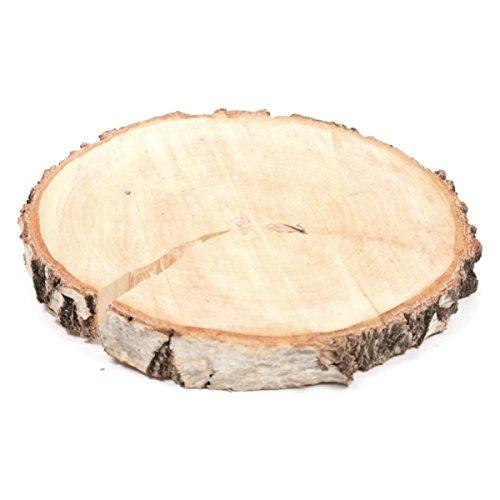 Dicke Birkenscheibe BIRCH SLICE - rund - 20-26 cm - Holzscheibe - Baumscheibe