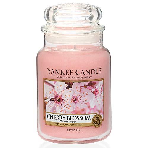 Yankee Candle Duftkerze im Glas (groß)   Cherry Blossom   Brenndauer bis zu 150 Stunden