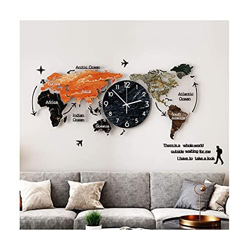 NC Weltkarte Wandtattoo Aufkleber, Acryl 3D Wandaufkleber Weltkarte Wand, Wohnkultur Wandkunst, einfach anzubringen und abnehmbar. LKWK