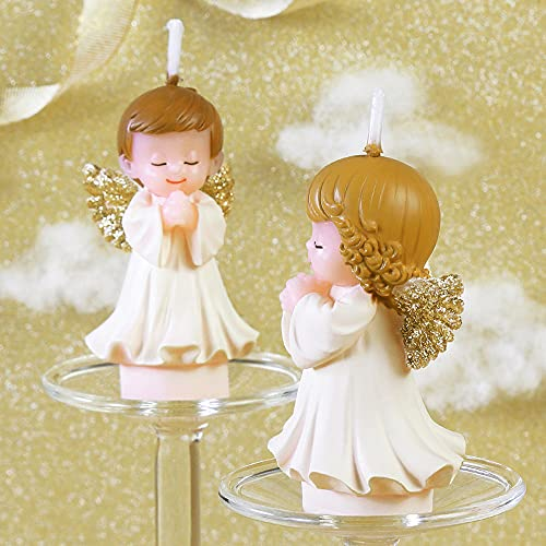 Geburtstagstorte Kerze, Engel Kuchenkerze, Partybedarf Kerze, Hochzeitsdekoration Kerze, 1 Paar Engelskerzen, Das Perfekte Kuchen Match (Goldene Flügel)