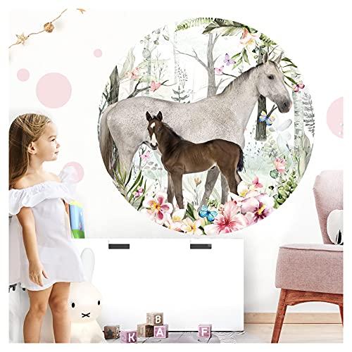 Little Deco 3D Wandtattoo Kinderzimmer Wandbild Pferd Wandsticker für Kinder SpielzimmerWanddekoWandaufkleber Schlafzimmer Tapete selbstklebend 120 cmDL623