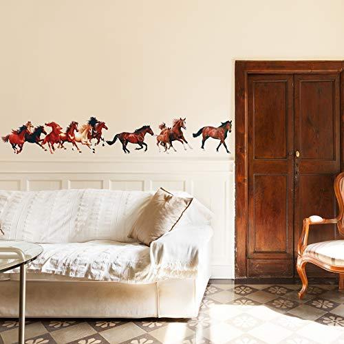 30 Stück Pferd Wandtattoos Wildpferd Dekor Wildpferd Aufkleber Wandtattoos Wildpferd Dekor für Wanddekoration, 11,8 x 7,8 Zoll