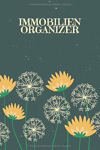 Immobilienorganizer: Journal für Skizzen Ideen Berechnungen mit Terminkalender   Motiv: Pusteblumen