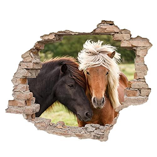 Little Deco 3D Wandsticker Wandaufkleber Wandtattoo Kinderzimmer Mädchen Pferd Wanddeko Spielzimmer Wandbild Poster Tapete Schlafzimmer Kleinkind Horse DL639-9