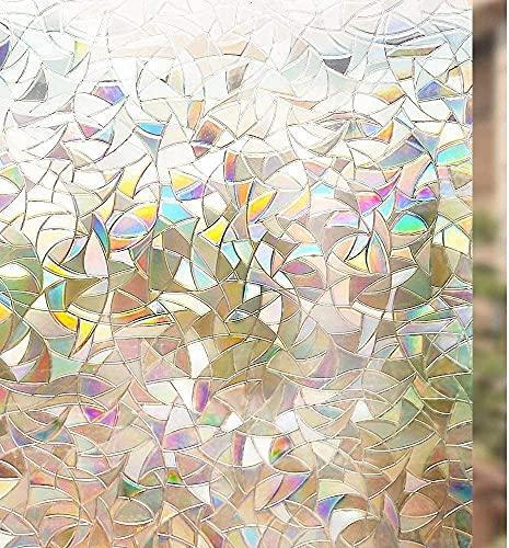 rabbitgoo 3D Fensterfolie Selbstklebend Dekorfolie Sichtschutzfolie Statisch Haftend Anti-UV - 44,5 x 200CM