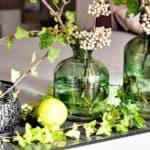 Deko Grün mit Vasen