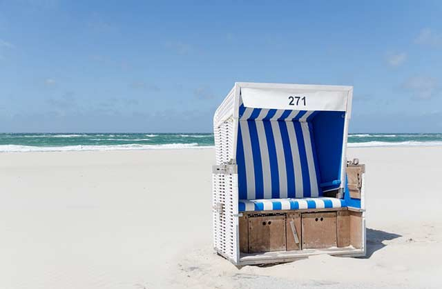 Strandkorb - auch als Deko erhältlich