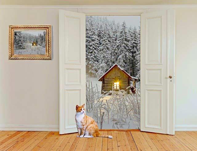 Türen mit Wanddeko als Stilelement
