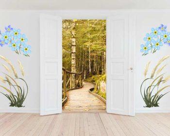 Türen mit Wandposter kombinieren