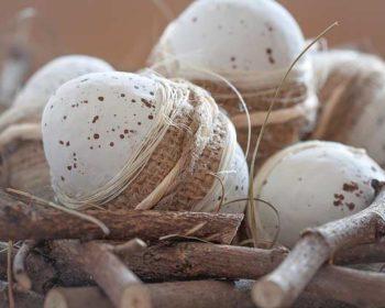 Ostereier Naturdeko